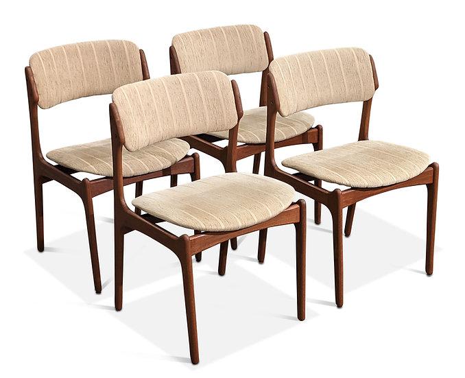 (SOLD) Erik Buch Teak Dining Chairs
