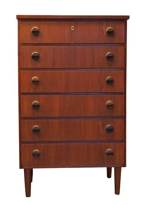 Danish Teak Tall Boy Dresser 6 Drawer Laa Design Furniture And Decor In Downtown New York
