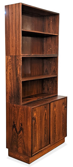 (SOLD) 3 Section Rosewood Bookcase - Daadyr