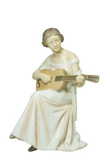 Bing and Grøndahl - Woman with Guitar Figurine