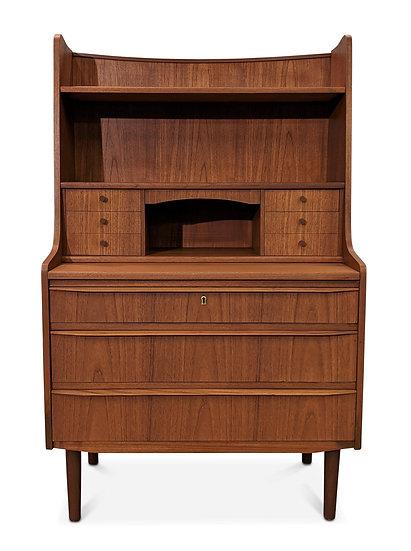 (SOLD) Teak Secretary Bookcase Desk - Guld