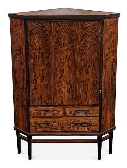 (SOLD) Rosewood Corner Cabinet - Patrick