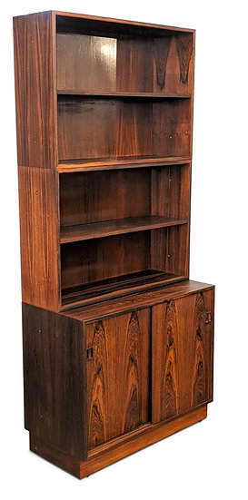 3 Section Rosewood Bookcase - Vildsvin