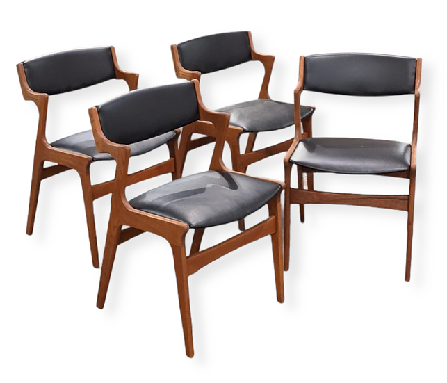 (SOLD) 4 Nova Teak Dining Chairs