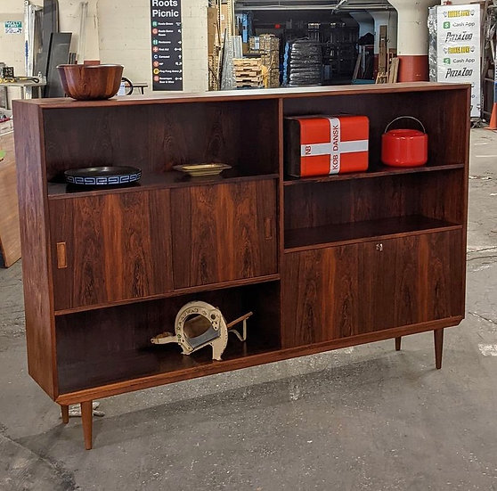 Long Rosewood Bookcase - Lilleborg