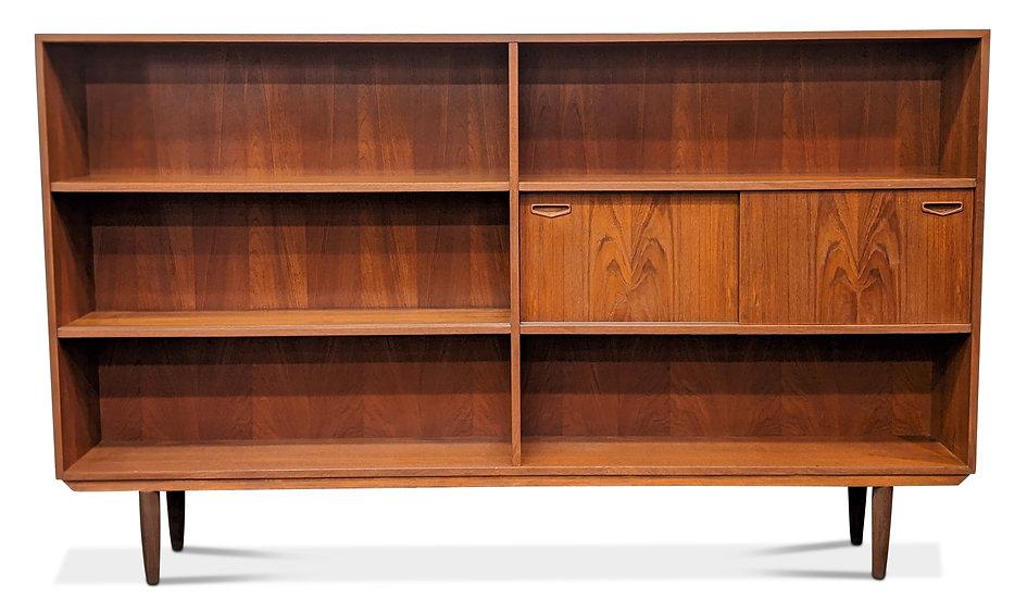 (SOLD) Long Teak Bookcase - Kanin