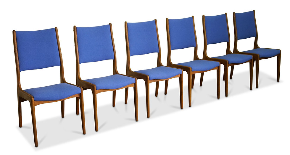 (SOLD) Johannes Andersen high back dining chairs - Set of 4