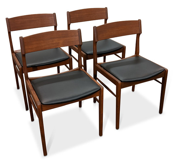 (SOLD) 4 Teak Dining Chairs - Hvid