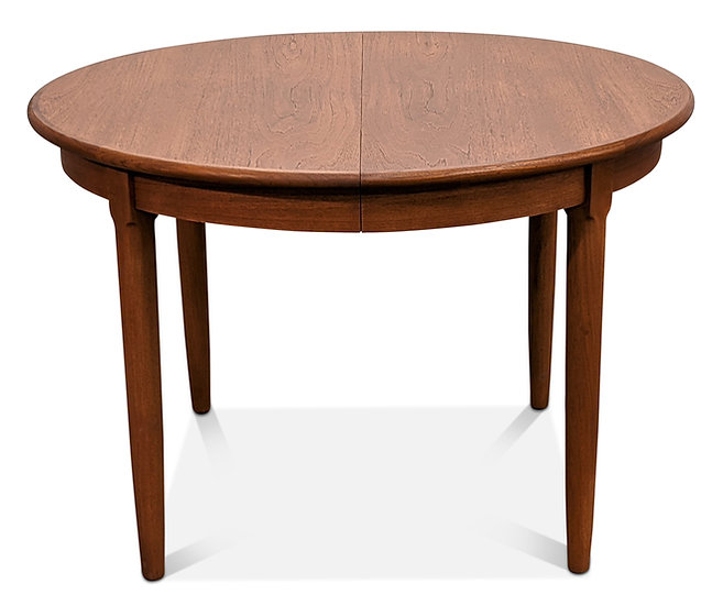 (SOLD) Round Teak Table w Two Leaves