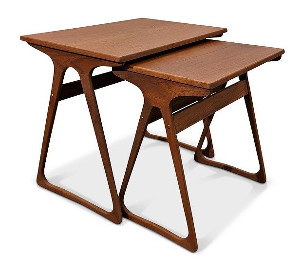 (SOLD) Teak Nesting Tables - Elfenben
