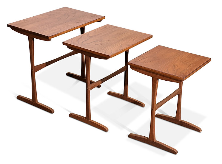 Teak Nesting Tables by Kai Kristiansen