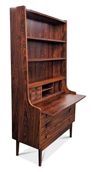 "(SOLD) Johannes Sorth Rosewood Bookcase / Secretary - ""Aften"""