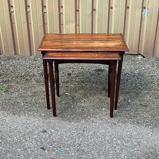 "Rosewood Nesting Tables - ""Snarr"""