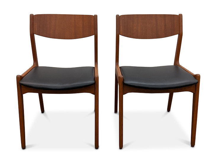 (SOLD) 2 Teak Dining Chairs - Appelsin