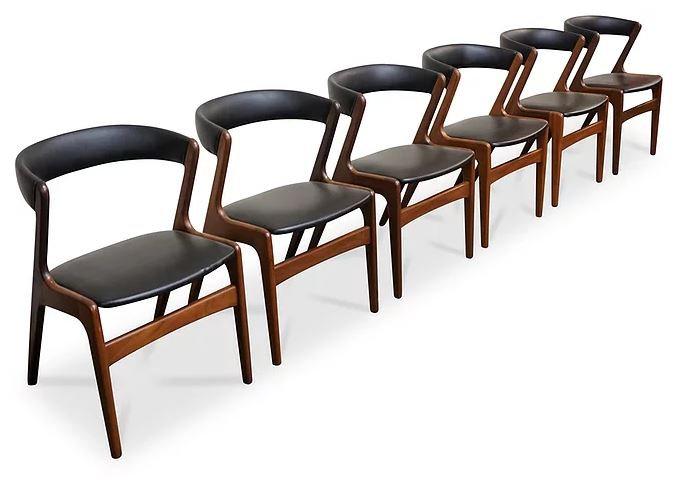 (SOLD) 6 Kai Kristiansen Fire Chairs