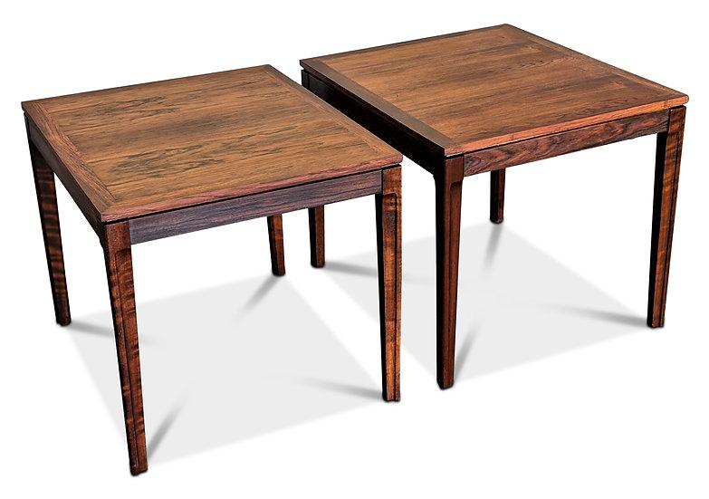 Pair of Rosewood Side Tables - Elg