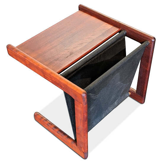 Newspaper and Magazine holder + side table