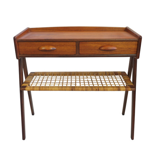 """Two Drawer Side Table with Shelf """"Karla"""""""