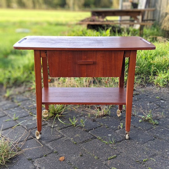Teak Sewing Table - Syv