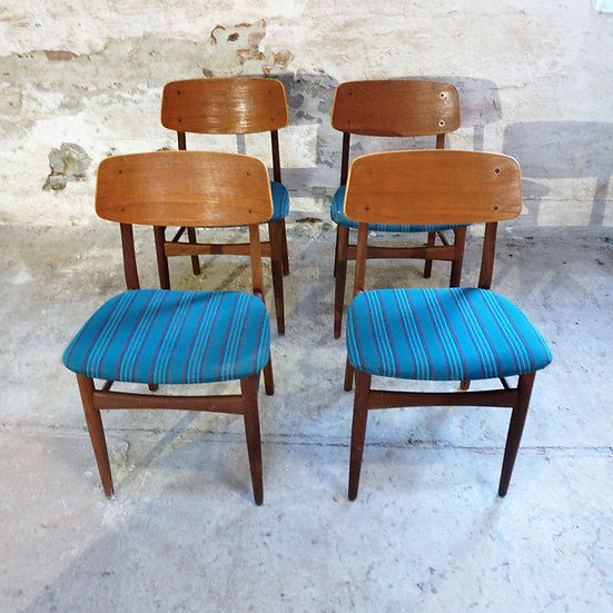 "Teak Dining Chairs - Set of 4 - ""Sverdrup"""