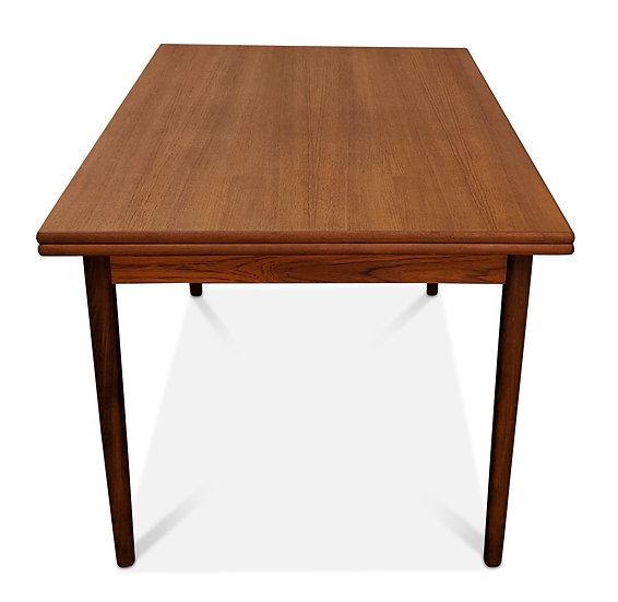 Teak Dining Table w Two Leaves - Butter