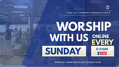 Church Online worship flyer