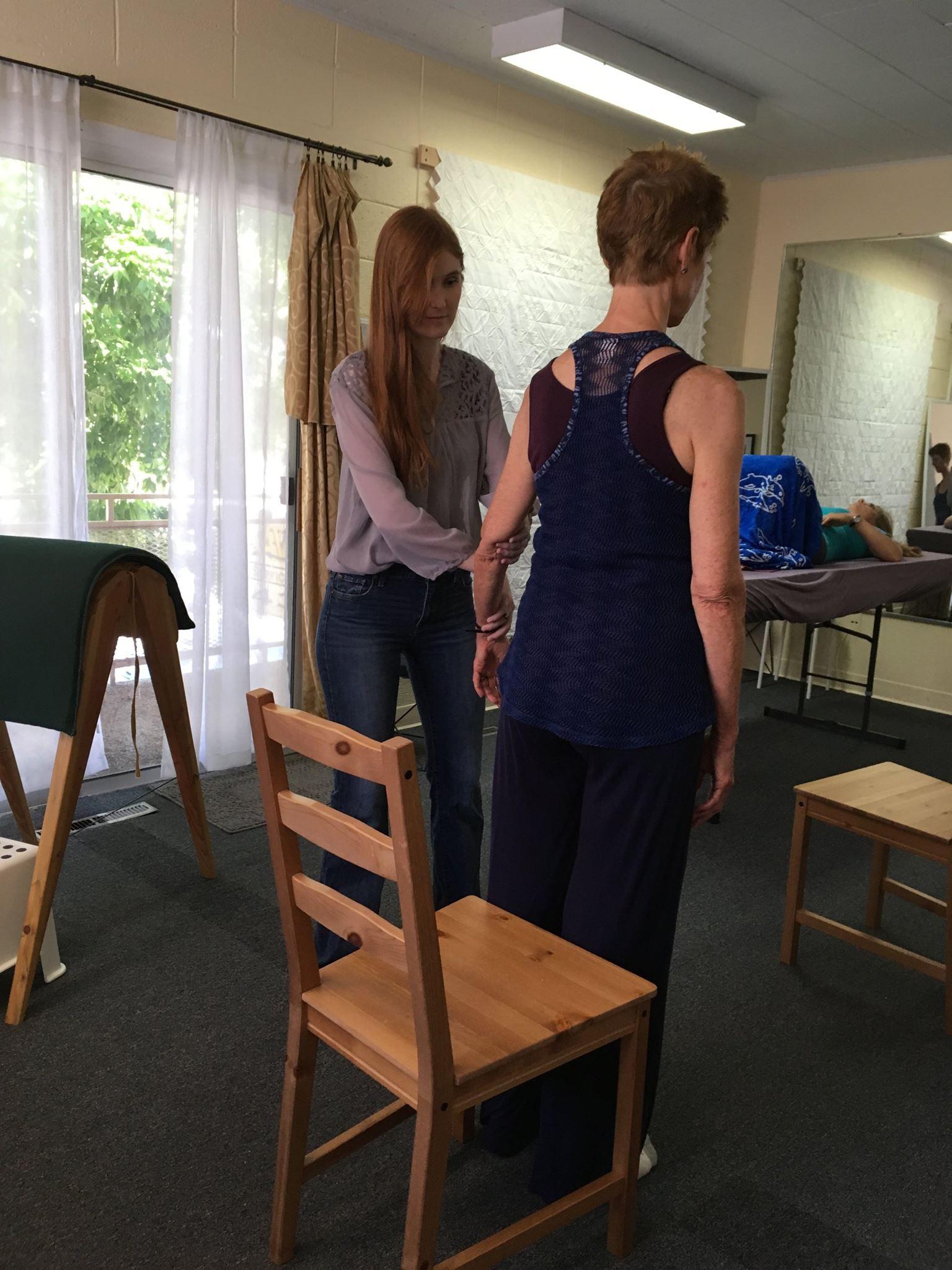 Nicole working with Nada 4