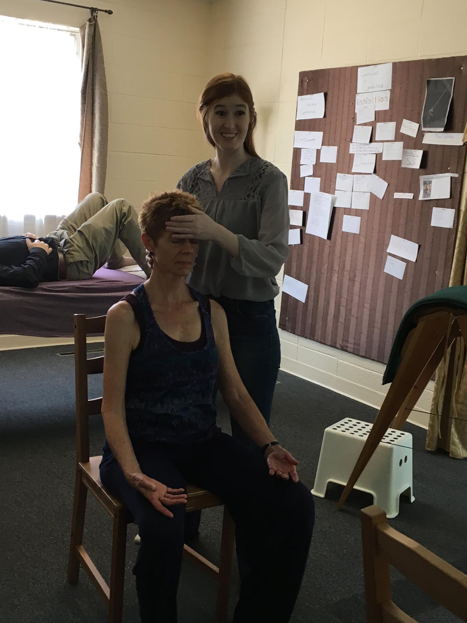 Nicole working with Nada 3