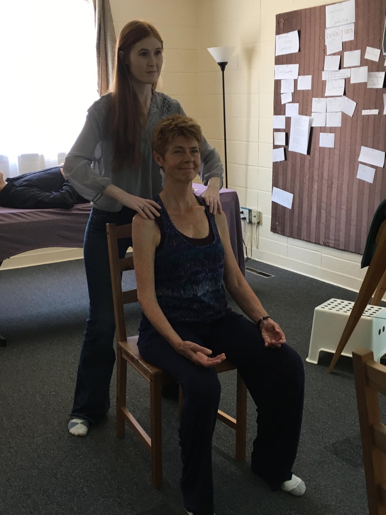Nicole working with Nada 6
