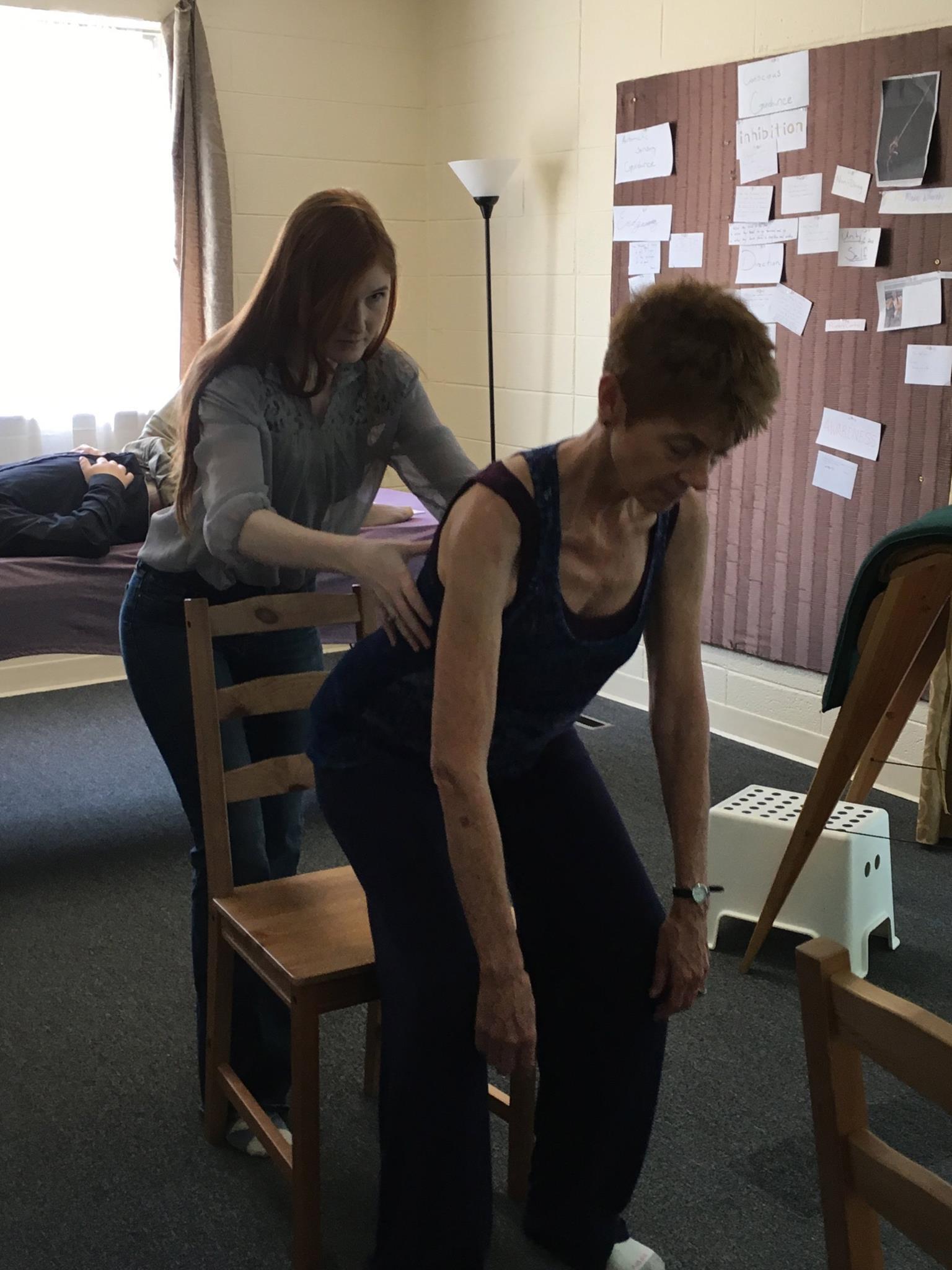 Nicole working with Nada