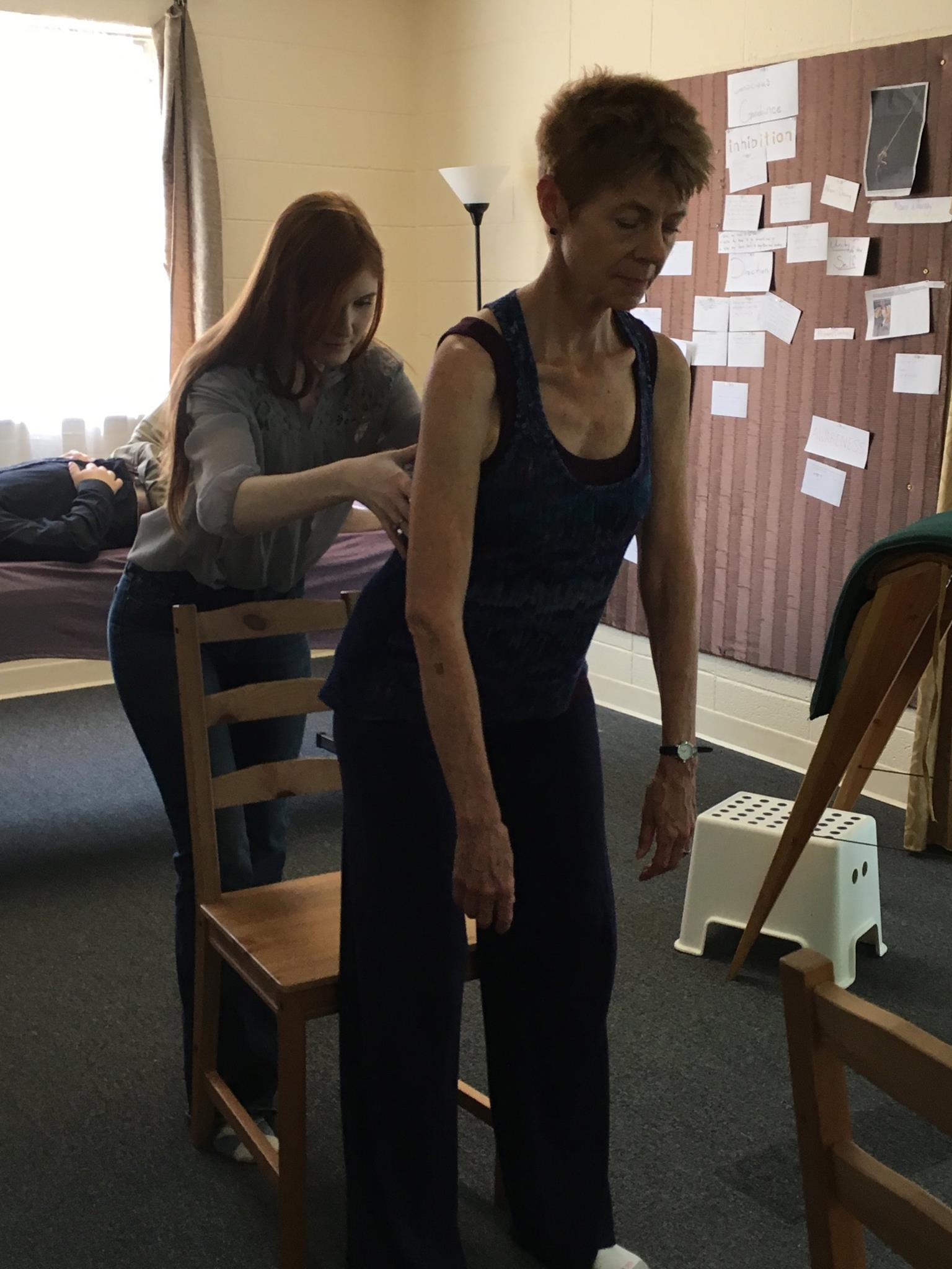 Nicole working with Nada 1