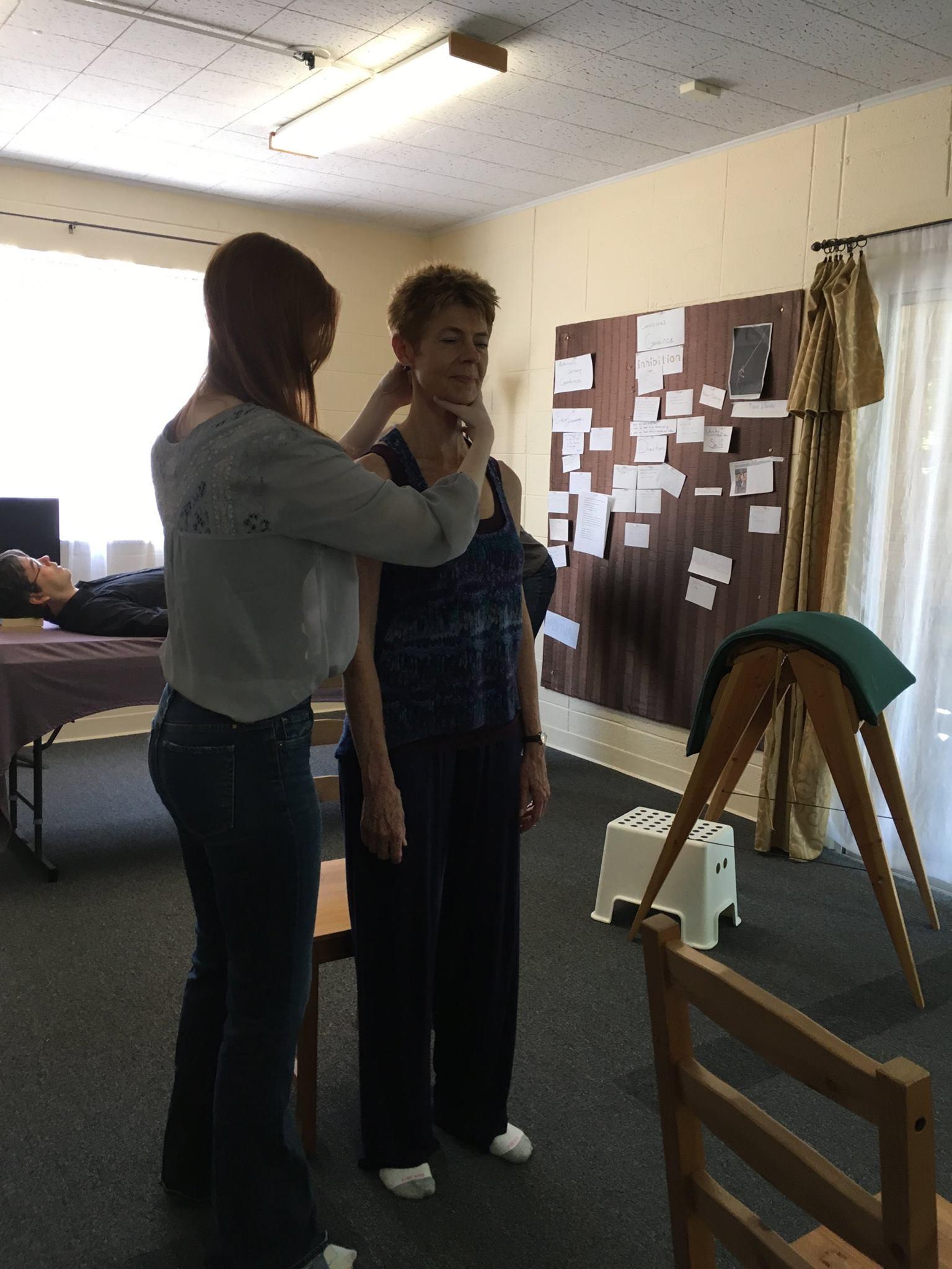 Nicole working with Nada 5