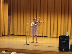 young student performing
