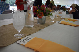 Place settings for the Dinner in Dane event