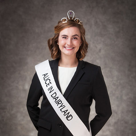 Julia Nunes, Alice in Dairyland, poses with her tiara and sash