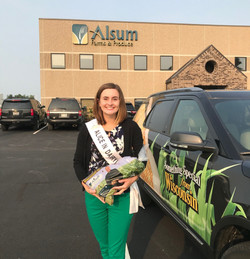 Julia at Alsum packaging facility with p