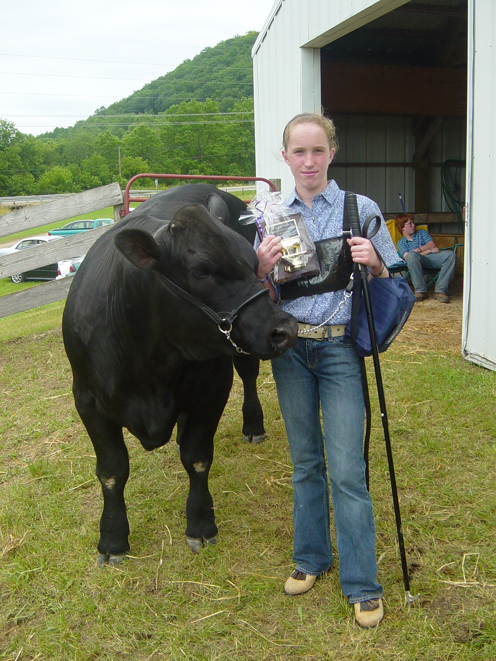 Winning Intermediate Steer Showmanship my first year showing a steer was such a great memory!!