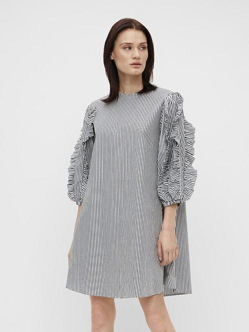 OBJHANNA 3/4 DRESS SKY CAPTAIN STRIPED