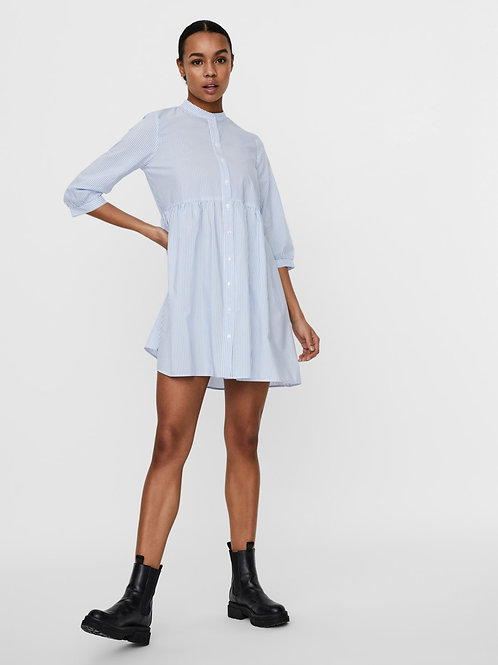 VMSISI 3/4 DRESS SNOW WHITE CASHMERE BLUE