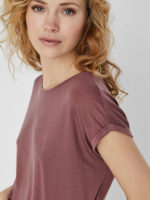 BASIC T-SHIRT ROSE BROWN