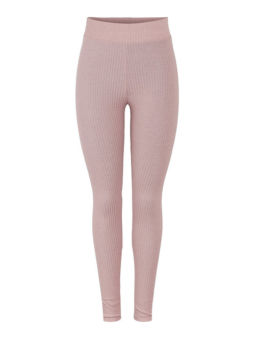 PCRIBBI HW LEGGINGS D2D - MISTY ROSE