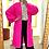 Thumbnail: Plain ballon sleeve long cardigan