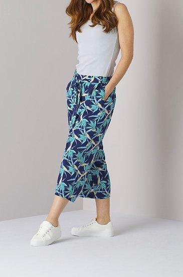 Tie Waist Crop trousers - Tropical print