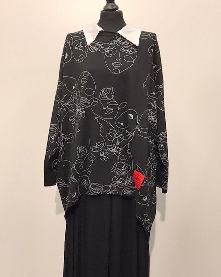 Abstract Face Cotton Tunic