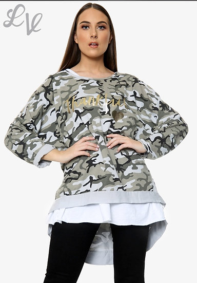 2-PIECE CAMOUFLAGE TOP