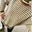 Thumbnail: Bubble Striped Roll Neck Jumper