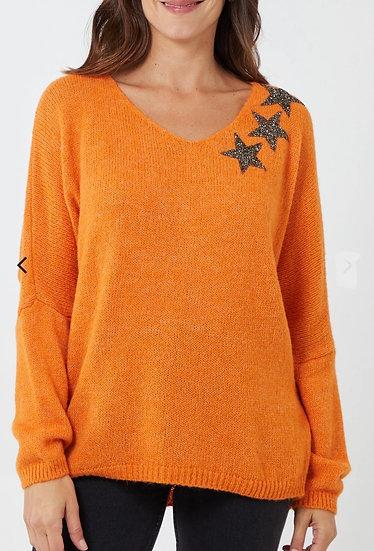 3 Stars Wool Mix Knitted Jumper