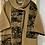 Thumbnail: Wool multi print boucle sleeved cape