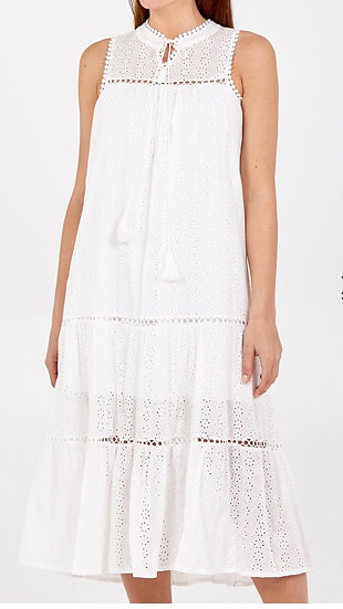 Anglaise Tiered Dress