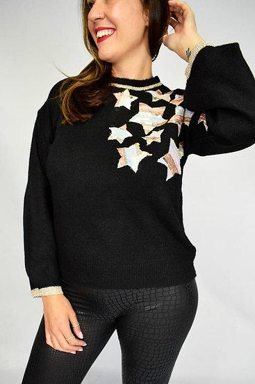 Star sequin jumper